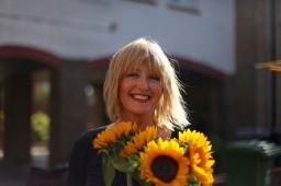 Mum with sunflowers